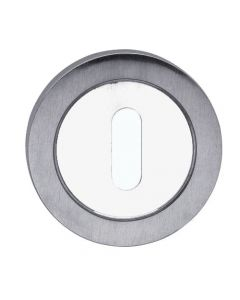 Standard Profile Escutcheon - Dual Finish Satin & Polished Chrome