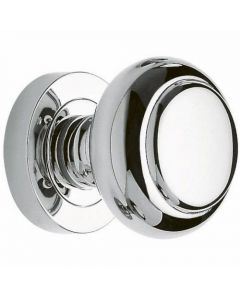 Contemporary Style Mushroom Shape Mortice Door Knobs - Polished Chrome