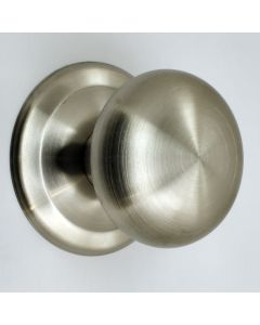 Modern Design Mushroom Shape Centre Door Knob - Satin Stainless Steel