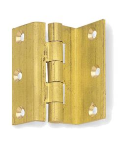 Storm Proof Hinges - Solid Drawn Self Colour Brass - 63mm