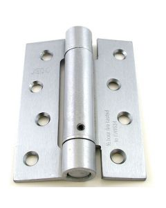Self Closing Spring Loaded Hinges - 102mm x 76mm- Satin Chrome