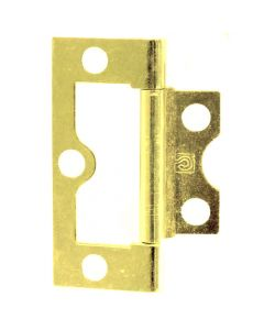 Easy Fit Flush Hinge - 50mm / 60mm / 75mm - Electro Brass Plated