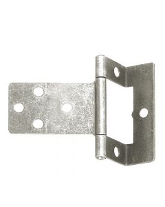 Cranked Flush Hinge - 50mm - Zinc Plated