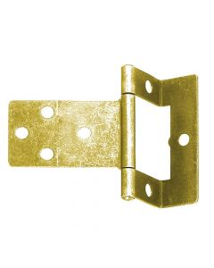 Cranked Flush Hinge - 50mm - Electro Brass Plated