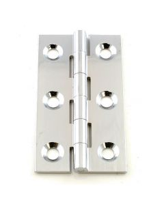 Small Polished Chrome Cabinet Hinges - 64mm x 35mm