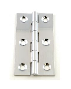 Small Polished Chrome Cabinet Hinges - 76mm x 40mm