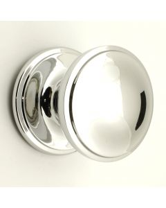 Princess Pattern - Front Door Knob - Polished Chrome