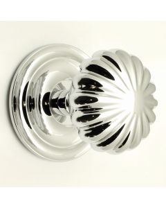 Peel Pattern Centre Door Knob - Polished Chrome