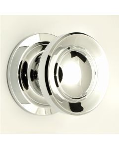 Victorian Style Centre Door Knob - Polished Chrome