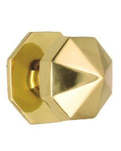 Carousel Pattern Centre Door Knob - Polished Brass
