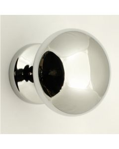 Modern Style Front Door Knob - Polished Chrome