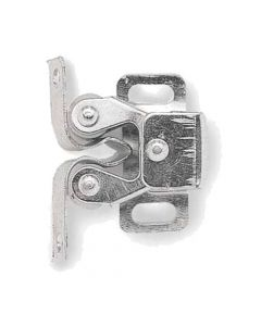 Twin Roller Catch For Light Weight Cupboard Doors - Zinc Plated Finish