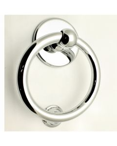Large Style Ring Door Knocker - Polished Chrome