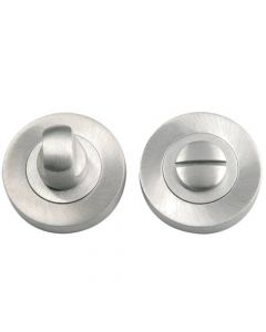Bathroom Snib Turn & Release Set - Satin Chrome