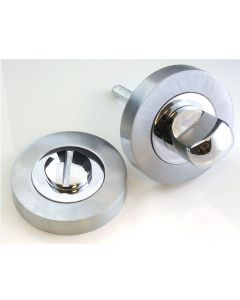 Bathroom Snib Turn & Release Set - Dual Finish Satin & Polished Chrome