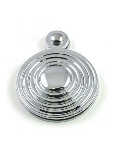 Ringed Covered Escutcheon - Polished Chrome
