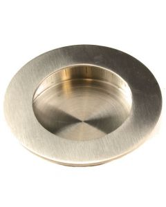 Contemporary Design Circular Flush Pull Handle - Available In Two Sizes - Satin Stainless Steel
