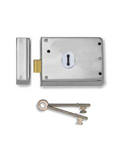 Surface Mounted Rim Deadlock - Polished Chrome