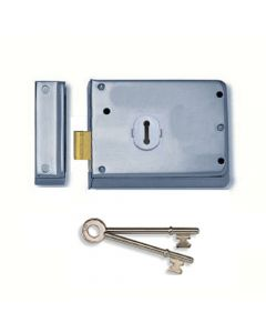 Surface Mounted Rim Deadlock - Satin Chrome