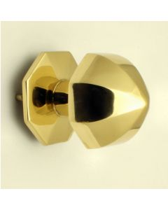 Umbrella Pattern Centre Door Knob - Polished Brass