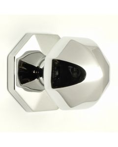 Umbrella Pattern Front Door Knob - Polished Chrome