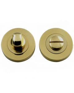Bathroom Snib Turn & Release Set - Satin Brass