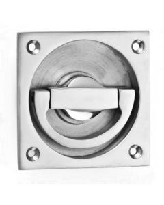 Flush Fitting Ring Style Operational Door Handle - Satin Nickel