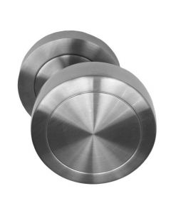 Offset Cranked Door Knobs - Satin Stainless Steel