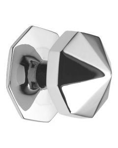 Carousel Pattern Centre Door Knob - Polished Chrome