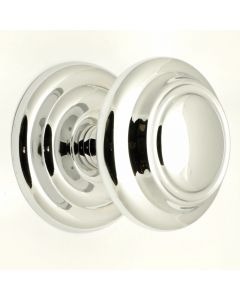 Extra Large Centre Door Knob - Polished Chrome