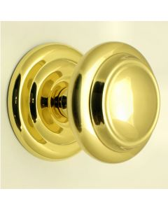 Extra Large Centre Door Knob - Polished Brass