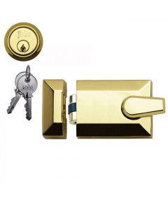 Roller Bolt Night Latch - Polished Brass