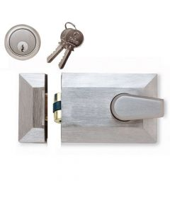 Roller Bolt Night Latch - Satin Chrome