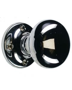 Unsprung Hollow Traditional Mortice Knob - Polished Chrome