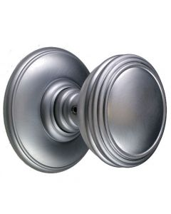 Plain Flat Bun Shape Door Knobs - Satin Chrome