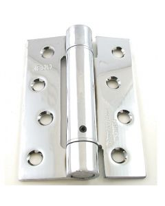 Self Closing Spring Loaded Hinges - 102mm x 76mm - Polished Chrome