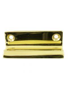 Sliding Sash Window Lift - Traditional Pattern - Polished Brass