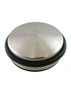 Free Standing Portable Door Weight - Satin Nickel
