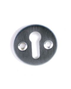 Plain Round Standard Escutcheon - Satin Chrome
