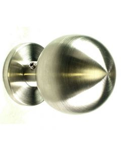 Satin Stainless Steel - Ball Shape - Mortice Door Knobs