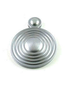 Ringed Covered Escutcheon - Satin Chrome