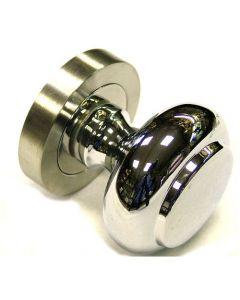 Dual Finish Door Knob - Satin Stainless Steel & Chrome