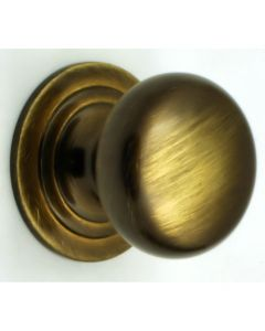 Solid Brass Mushroom Shape Cupboard Door Knobs - 4 Sizes - Antique Brass Finish