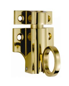 Architectural Quality - Fanlight Window Catch - Polished Brass