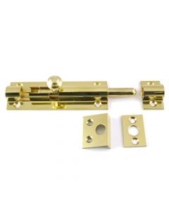 Ringed Pattern Barrel Bolt - Polished Brass