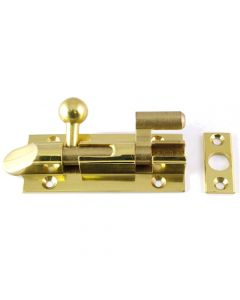 Ball Shape Necked Pattern Barrel Bolt - Polished Brass