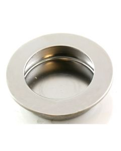 Contemporary Design Circular Flush Pull Handle - Available In Two Sizes - Polished Stainless Steel