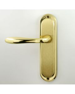 Henley Lever Suite - Dual Finish - Satin & Polished Brass