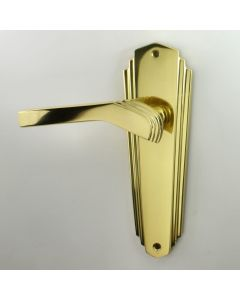 Waldorf Art Deco Lever Suite - Polished Brass