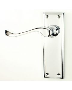 Edwardian Door Handle Suite - Polished Chrome